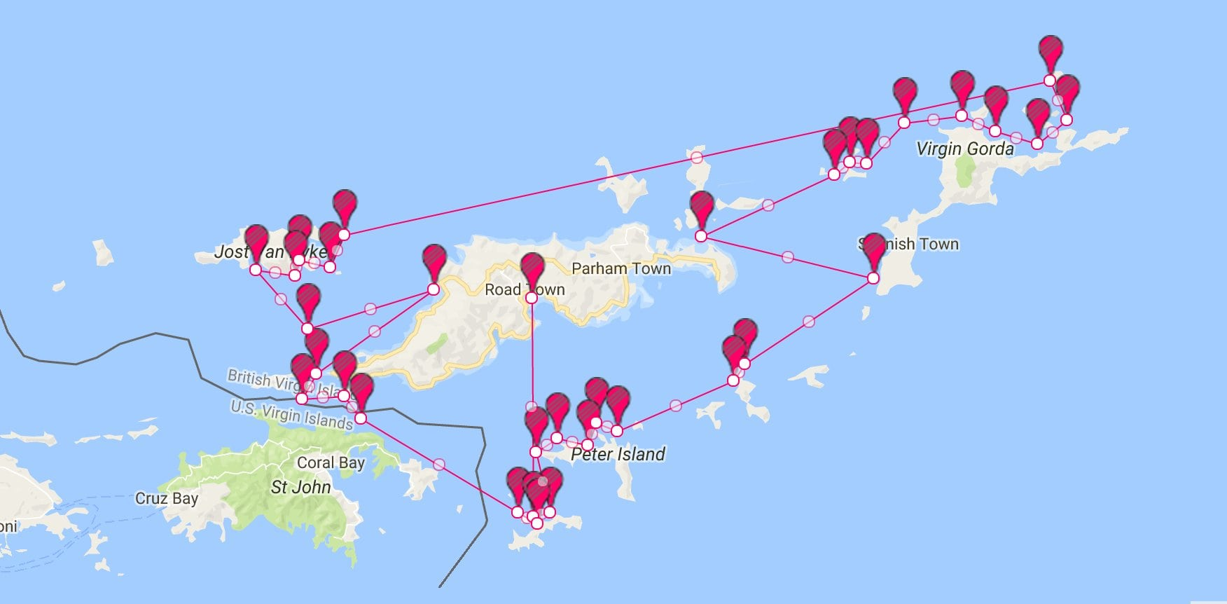 caribbean-catamaran-rentals-bvi-itinerary-week