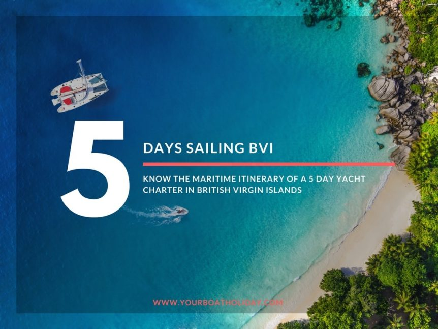 Know the Maritime Itinerary of a 5 Day Yacht Charter in BVI